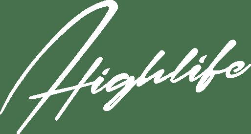 Sessions Highlife logo in all white