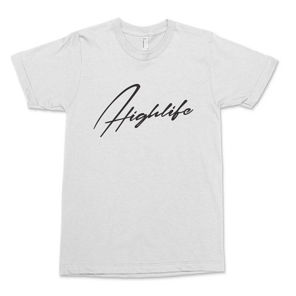 white highlife shirt front